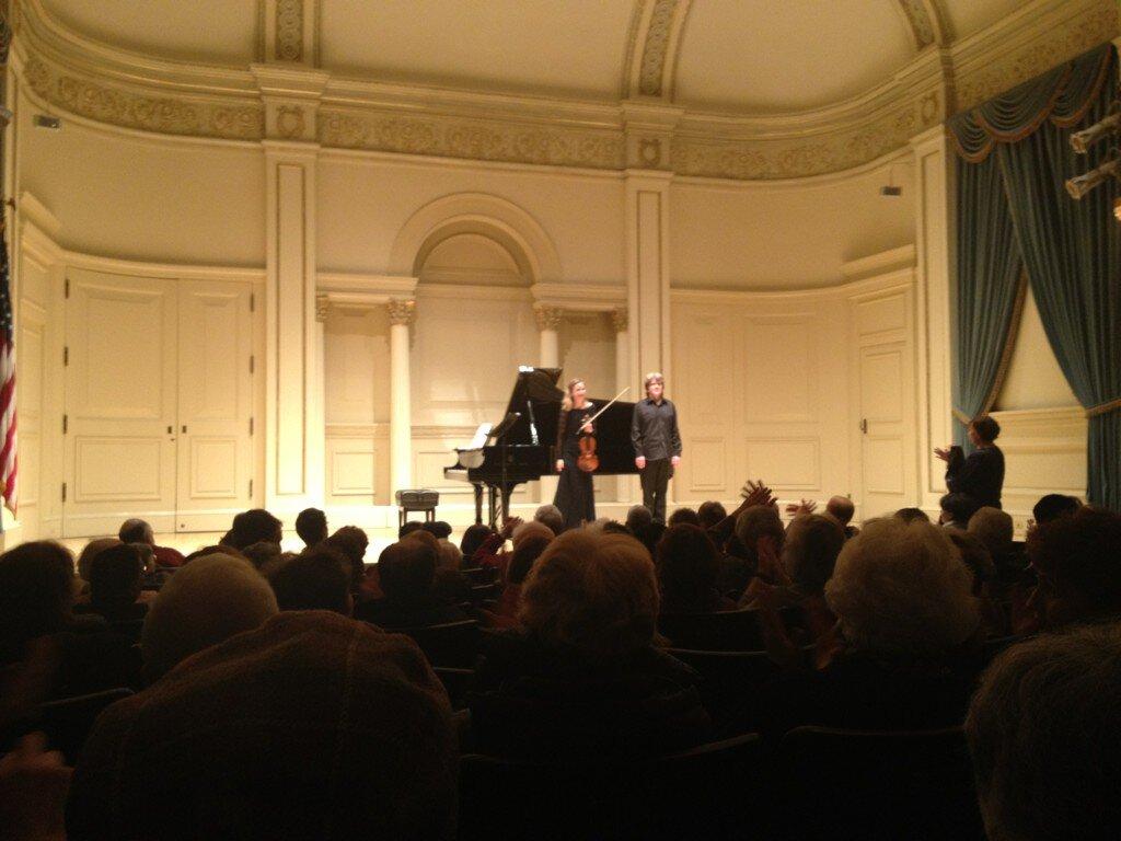 Duo at Weill Recital Hall